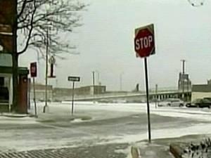 В СШС бушует снежная буря. Скорость ветра более 100 км в час