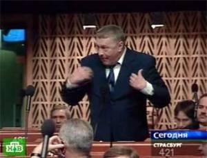 На сессии ПАСЕ Жириновскому отключили микрофон