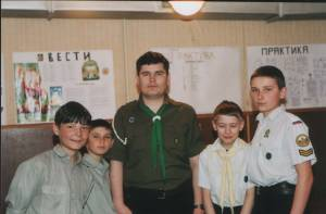 Юные разведчики в городе Белая Калитва.