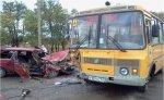 В Зерноградском районе произошла авария с участием школьного автобуса дети непострадали