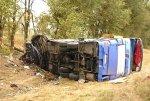Автобус следовавший из Дагестана в Ростов-на-Дону столкнулся  с ВАЗ-21124 есть пятеро погибших