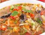 Рецепт говяжего супа с грибами и томатами