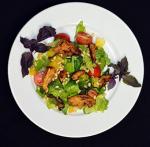 Рецепт салата с курицей и персиками