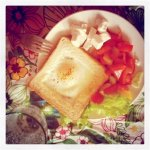 Рецепт яичницы в хлебе