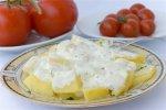 Рецепт датского картофельного салата с укропом и йогуртовой заправкой
