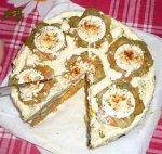 Новогодний рецепт: Торт из печени с двумя разными начинками