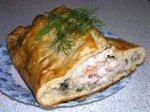Новогодний рецепт: Кулебяка с рыбой