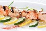 Новогодний рецепт: Шашлыки из лосося в укропно-горчичной  глазури