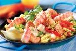 Рецепт паэльи с креветками и курицей