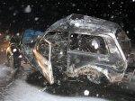 В Ростовской области при столкновении с грузовиком заживо сгорели водитель и пассажир Нивы