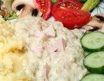 Рецепт куриного филе в сырном соусе