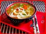 Рецепт лукового супа с рисовой лапшой и соевым соусом