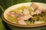 Рецепт супа из картофеля и савойской капусты с беконом