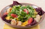 Рецепт салата корн с морским гребешком и манговым соусом
