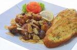 Рецепт грибов в шипящем сливочном масле с чесноком