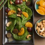 Рецепт: салат со шпинатом и апельсинами