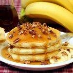 Рецепт: Банановые оладьи на молоке