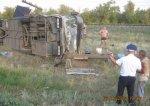 Под Волгоградом автобус с туристами протаранил легковушку