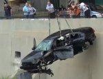 В Ростове Mitsubishi, на скорости 160 кмч  упал в реку Темерник