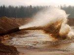 В Ростове на месте будущего стадиона на 45 тысяч мест ведется намыв песка