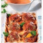 Рецепт: Ежики из рубленого мяса и риса с яичной начинкой