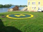 На территории Кореновской больницы построена вертолетная площадка