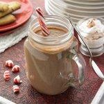 Рецепт: Горячий шоколад с перечной мятой