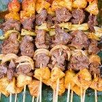 Рецепт: Свиной шашлык с ананасами