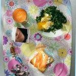 Рецепт: яйцо пашот с голландским соусом и шпинатом