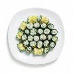Рецепт: роллы из цукини с сыром из домашнего йогурта
