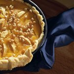 Рецепт: пирог с яблоками и медом