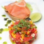 Рецепт: севиче из лосося на тостадас