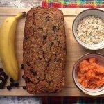 Рецепт: овсяно-банананово-морковная коврижка
