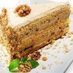 Рецепт: кофейный торт с грецкими орехами