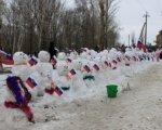 Жители Зернограда слепили 224 снеговика в подержку олимпийской сборной