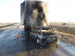 В субботу в аварии на трассе заживо сгорели два человека