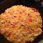 Рецепт: паэлья с креветками