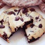 Рецепт: шоколадно-банановый брауни-чизкейк