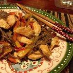 Рецепт: соба с индейкой и овощами