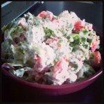 Рецепт: зеленый салат с творогом