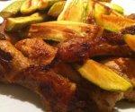 Рецепт: куриные ножки с кабачками
