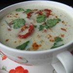 Рецепт: крем-суп из баклажанов с запеченными помидорами