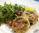 Рецепт: рыбные котлеты со шпинатом