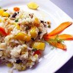Рецепт: пестрое овощное ризотто