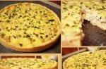 Рецепт: лоранский пирог с курицей, грибами и шпинатом