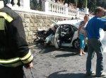 В  Сочи в результате столкновения маршрутки с автомобилем пострадали 12 пассажиров микроавтобуса