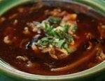 Рецепт: китайский кисло-острый суп с тофу