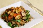 Рецепт: чечевица с грибами