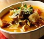 Рецепт: грибной суп с панчеттой и перловой крупой