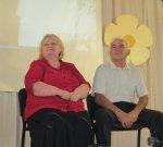 """В ДК """"Шахтер"""" на празднике чествовали славную семью Загорулько, которые отметили 40 лет супружеской жизни"""